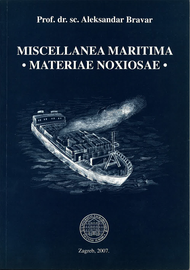 Bravar A. Miscellanea maritima Materiae noxiosae 1