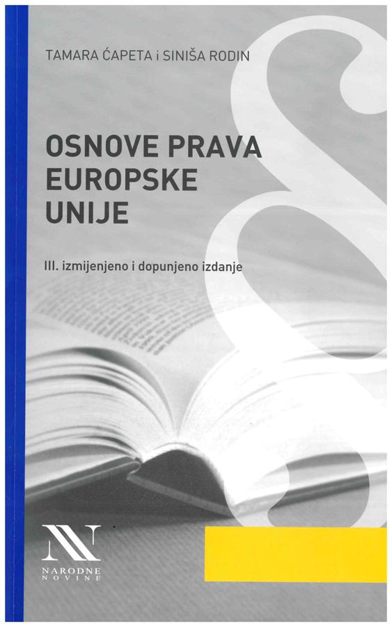 Capeta T. Osnove prava Europske unije 1