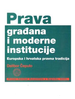 Cepulo D. Prava gradana i moderne institucije 1