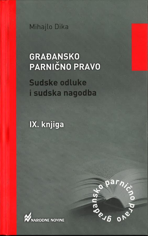 Dika M. Gradansko parnicno pravo sudske odluke i sudska nagodba 1