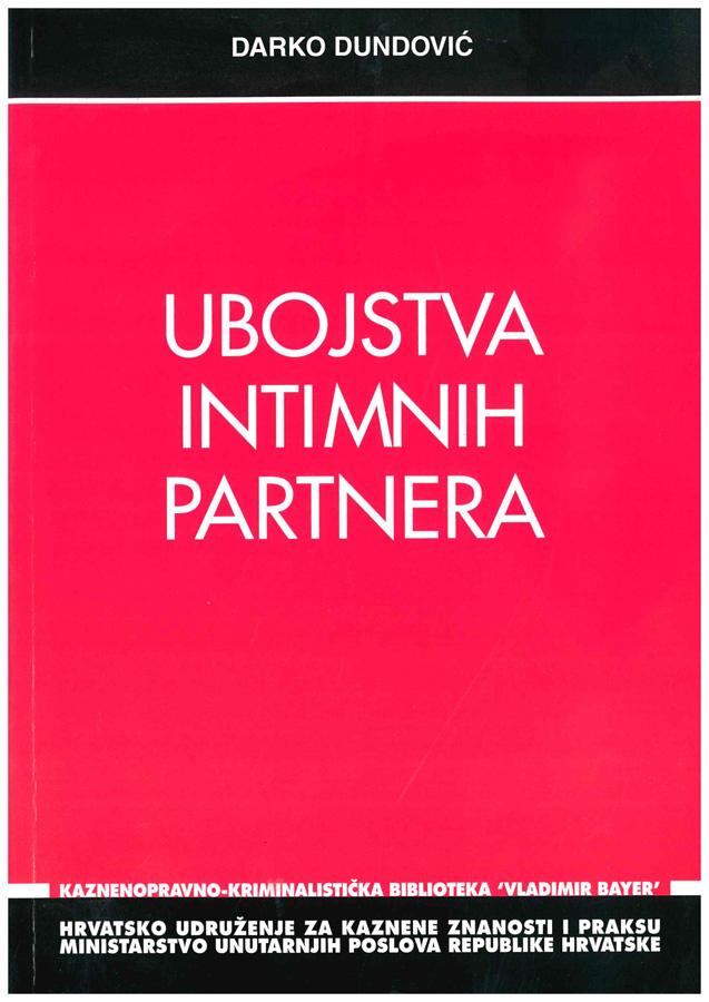Dundovic D. Ubojstva intimnih partnera 1