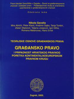Gavella N. Gradansko pravo i pripadnost hrvatskog pravnog poretka kontinentalnoeuropskom pravnom krugu 1