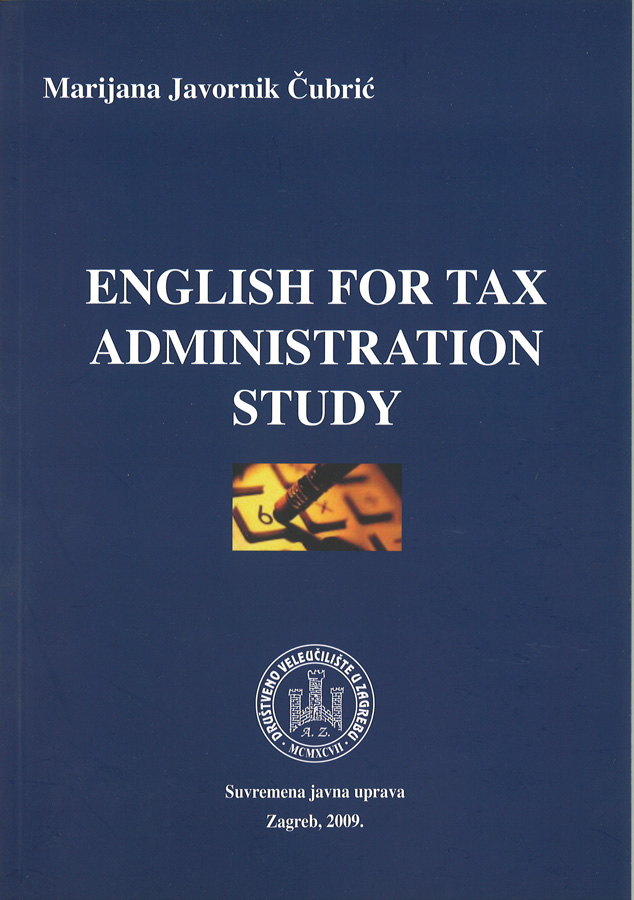 Javornik Cubric M. English for tax administration study 1