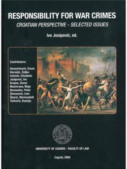 Josipovic I. Responsibility for war crimes 1