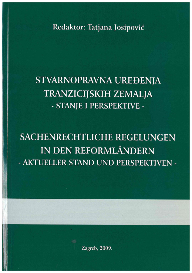 Josipovic T. Stvarnopravna uredenja tranzicijskih zemalja 1