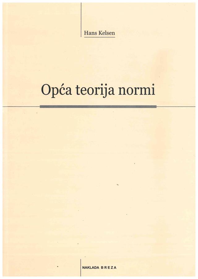 Kelsen H. Opca teorija normi 1