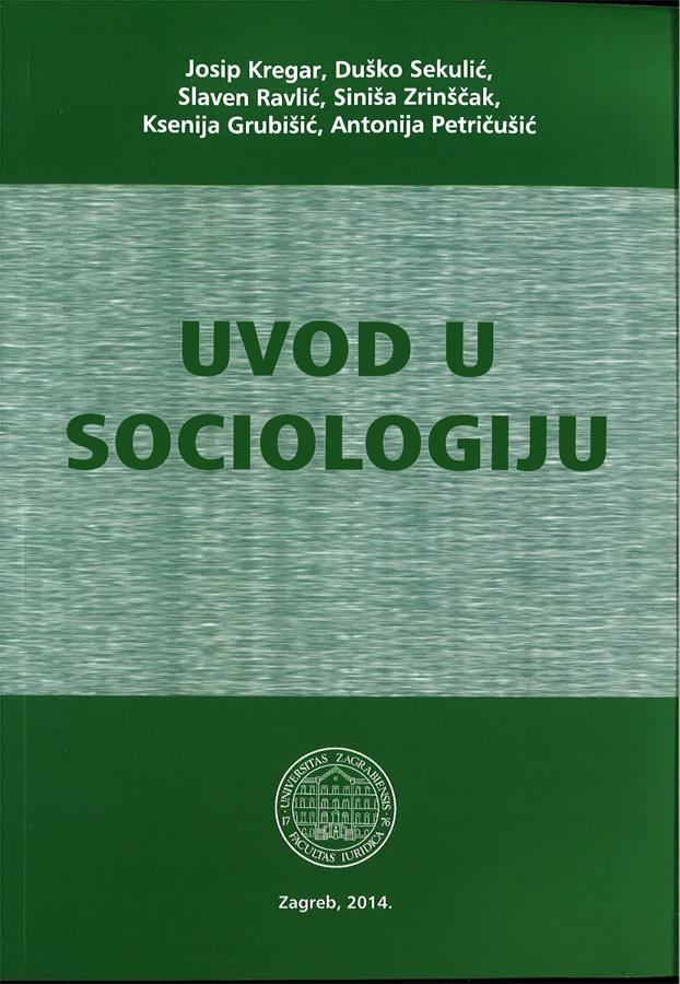 Kregar J. Uvod u sociologiju 1