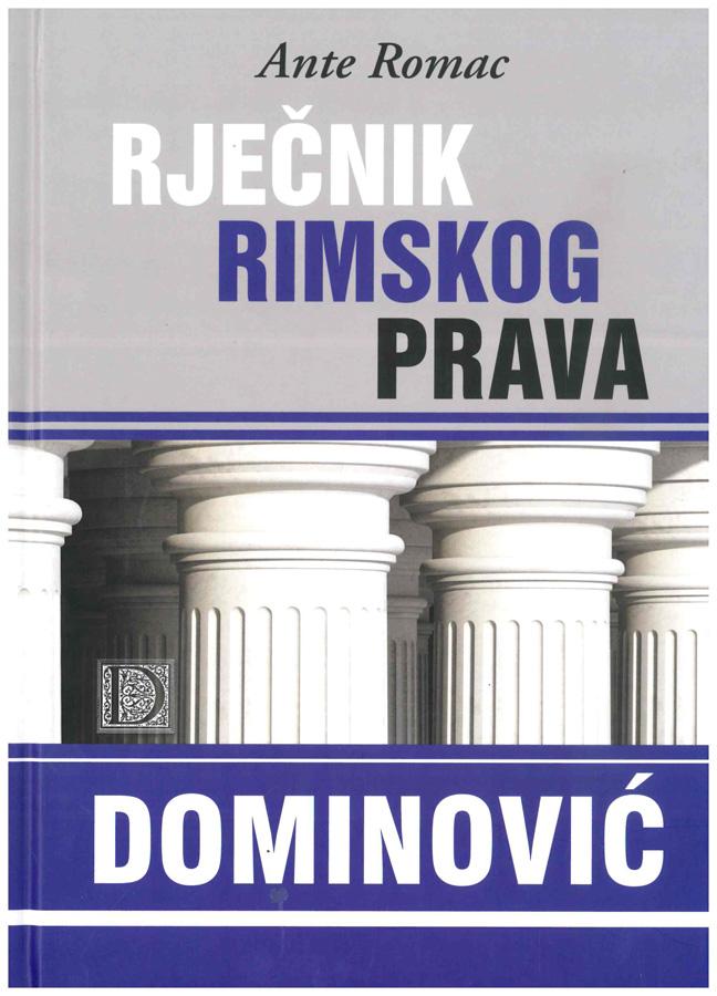 Romac A. Rjecnik rimskog prava 1