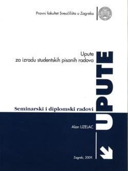Uzelac A. Upute za izradu studentskih pisanih radova 1