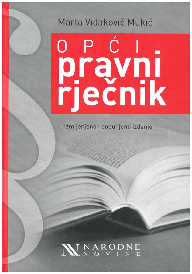 Vidakovic Mukic M. Opci pravni rjecnik 1
