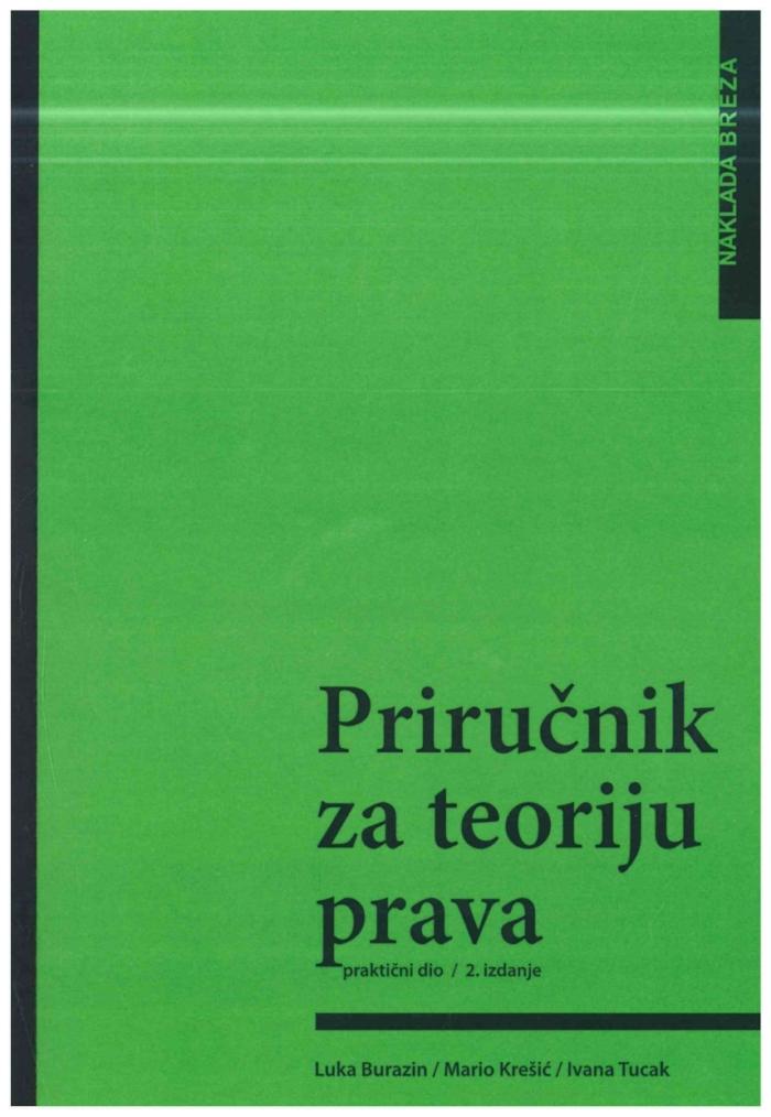 Burazin L. Prirucnik za teoriju prava