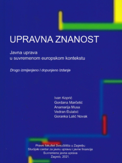 upravna znanost javna uprava u suvremenom europskom kontekstu